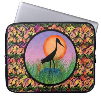 Sunset Bird Laptop Sleeve