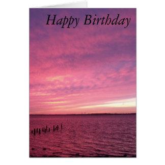 Sunset Birthday Card