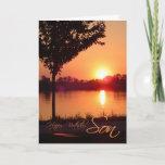 "Sunset Birthday for Son Card<br><div class=""desc"">Sunset Birthday for Son,  credit to : Robert Aichinger Austria</div>"