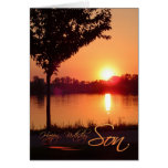 Sunset Birthday for Son Greeting Card