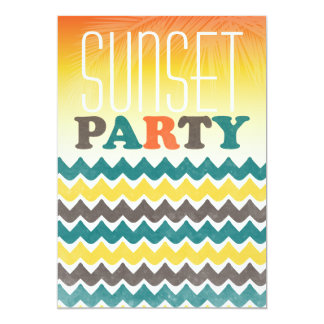 "Sunset Birthday Party Invitation 5"" X 7"" Invitation Card"