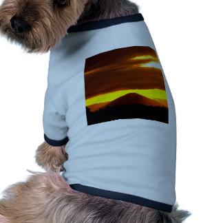 Sunset Black Butte Oregon Dog T-shirt