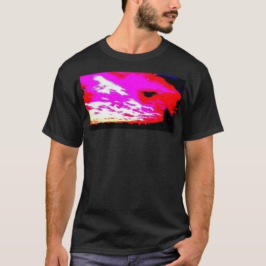 Sunset black white pink red T-Shirt