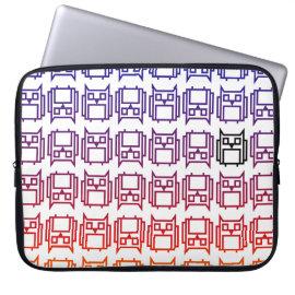 Sunset Block Owl Laptop Computer Sleeve