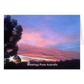 Sunset Blue Card