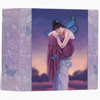 Sunset Blue Monarch Butterfly Fairy Binder
