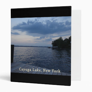 Sunset Blue Sky Cayuga Lake NY 3 Ring Binder