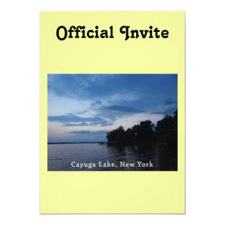 Sunset Blue Sky Cayuga Lake NY Card