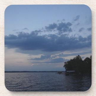 Sunset Blue Sky Over Cayuga Lake NY Coaster
