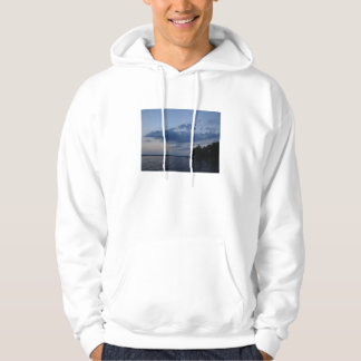 Sunset Blue Sky Over Cayuga Lake NY Hoodie
