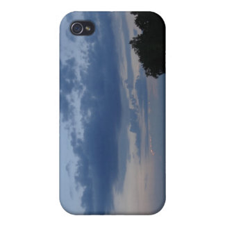 Sunset Blue Sky Over Cayuga Lake NY iPhone 4/4S Cases
