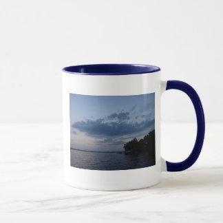 Sunset Blue Sky Over Cayuga Lake NY Mug