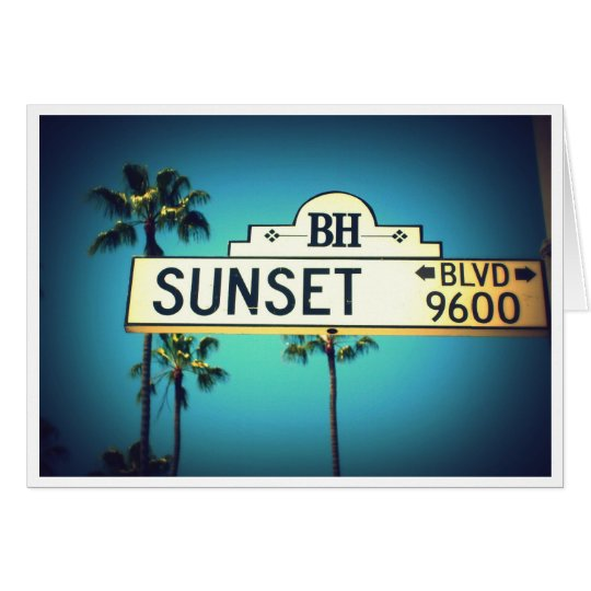 Sunset Blvd. Greeting Card