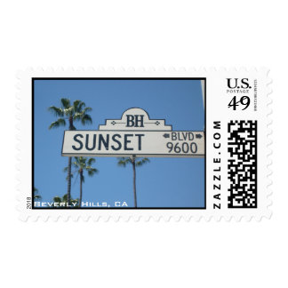 Sunset Blvd. Postage