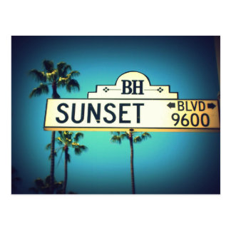 Sunset Blvd. Postcard