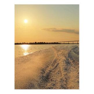 Sunset Boat Ride Postcard