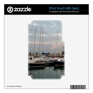 Sunset & boats, Isle of Wight Decal For iPod Touch 4G