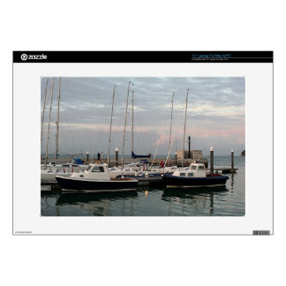 Sunset & boats, Isle of Wight Laptop Skin