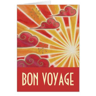 Sunset 'Bon Voyage' card red