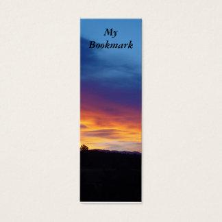 Sunset Bookmark Mini Business Card
