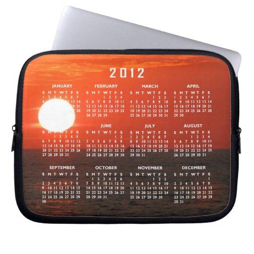 Sunset Booze Cruise; 2012 Calendar Laptop Computer Sleeves