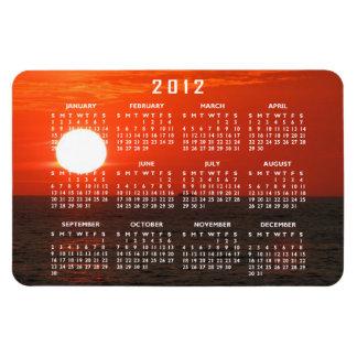Sunset Booze Cruise; 2012 Calendar Rectangular Photo Magnet