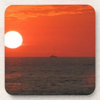 Sunset Booze Cruise Beverage Coaster
