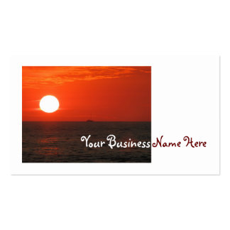 Sunset Booze Cruise Business Card