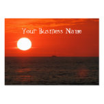 Sunset Booze Cruise Business Card Template