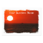 Sunset Booze Cruise Business Card Templates