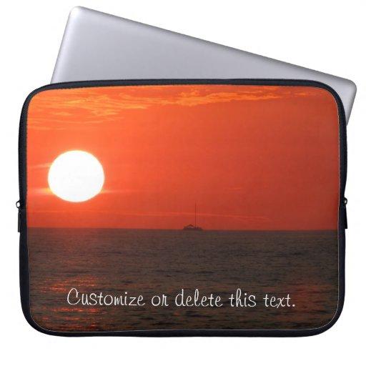 Sunset Booze Cruise; Customizable Laptop Sleeve