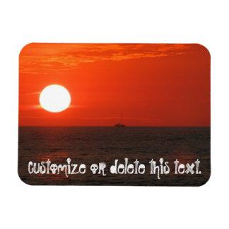 Sunset Booze Cruise; Customizable Rectangular Photo Magnet