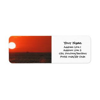 Sunset Booze Cruise Label