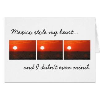 Sunset Booze Cruise; Mexico Souvenir Card