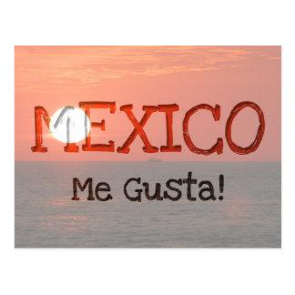 Sunset Booze Cruise; Mexico Souvenir Postcard