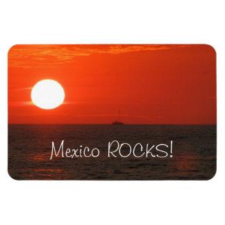 Sunset Booze Cruise; Mexico Souvenir Rectangular Photo Magnet