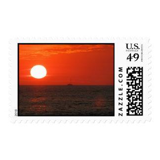 Sunset Booze Cruise Postage Stamp