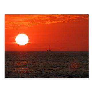 Sunset Booze Cruise Postcard