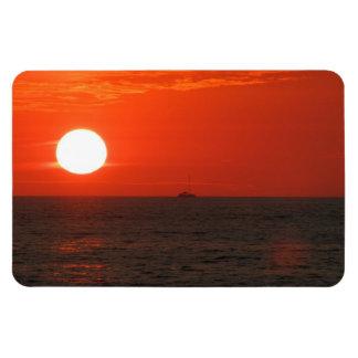 Sunset Booze Cruise Rectangular Photo Magnet