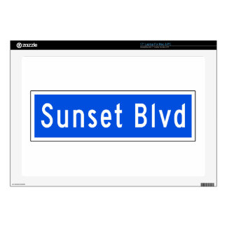 Sunset Boulevard, Los Angeles, CA Street Sign Laptop Decals
