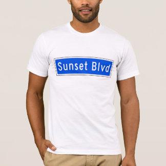 Sunset Boulevard, Los Angeles, CA Street Sign T-Shirt