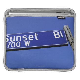 Sunset Boulevard sign against a blue sky iPad Sleeves