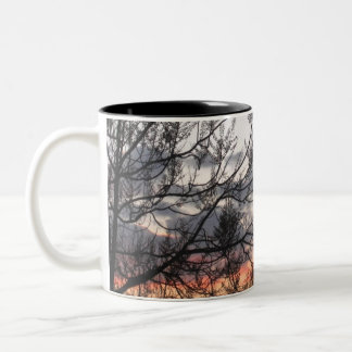 Sunset Branches Two-Tone Coffee Mug