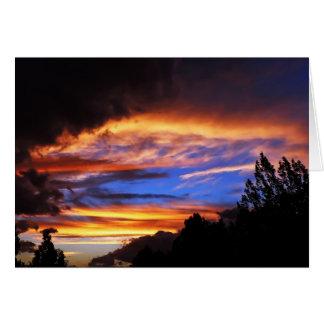 sunset break card