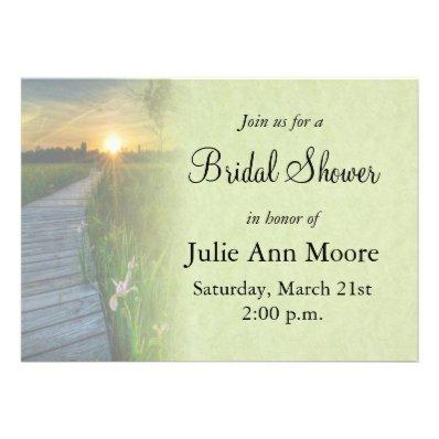 Sunset Bridal Shower Custom Invite