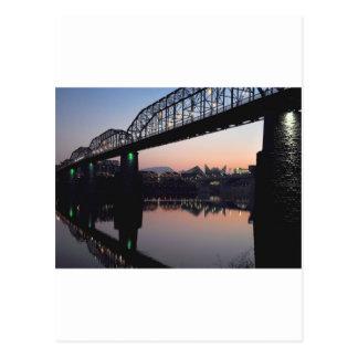 Sunset Bridge Postcard
