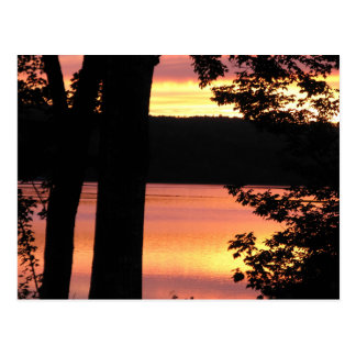 Sunset Bridgewater Nova Scotia POst Card