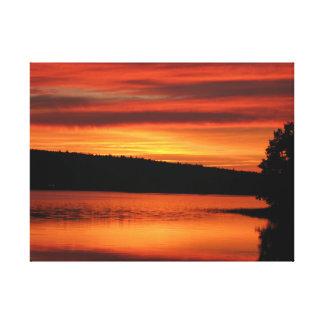 Sunset Bridgewater Nova Scotia. Stretched canvas