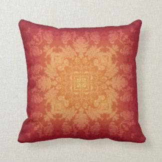 Sunset Brocade Kaleidoscope Design No.6 Pillow