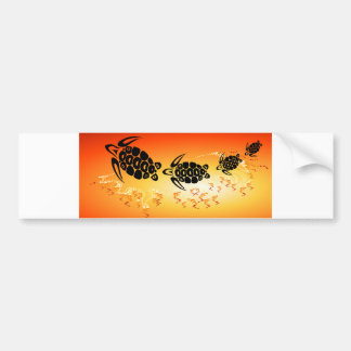 Sunset-Bubble-Turtle Bumper Sticker